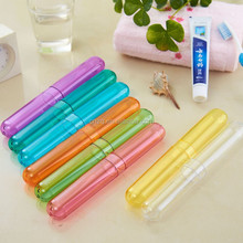 High Quality Transparent Travel Camping Toothbrush Holder Case Box Cover