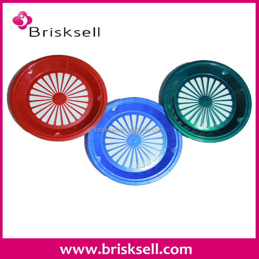 Colorful paper plate holders