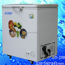 BD-108 Energy-saving technologies mini chest folding door freezer tricycle