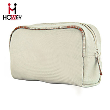 2016 New arrival Cheapest price durable fashion korean popular best selling microfiber quilted fabric cosmetic bag