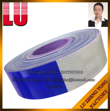 Blue Grey Gray DOT-C2 Car Adhesive Sticker Sheeting Tape Manufacturer Reflective Vinyl Material Sticker Sheeting Tape