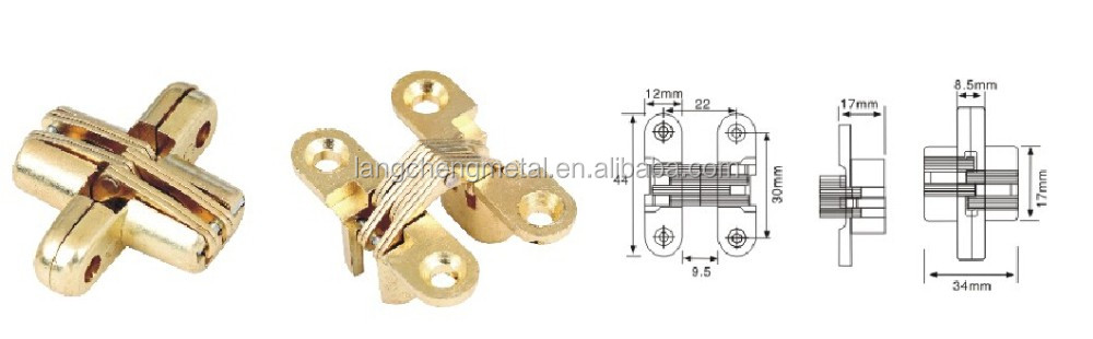 180 degree concealed cross hinges(44mm*17mm)
