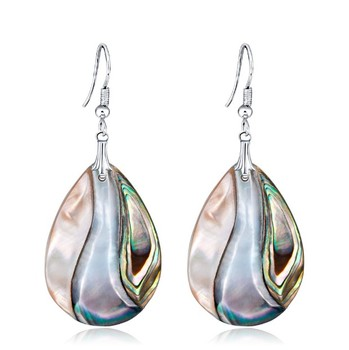 Fashion natural abalone shell earrings wholesale waterdrop earrings women jewelry