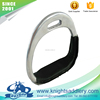 Aluminum Racing Horse Stirrups with PVC Leather Wrapped Tread