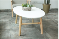 solid wood coffee table simple modern natural material tea table oak wood small end table