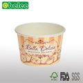Disposable food paper bowl soup container with hermetic lid