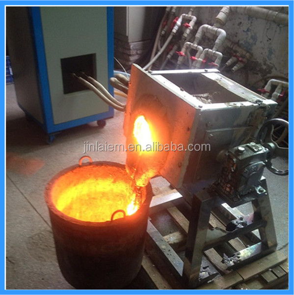 Medium Frequency Tilting Copper Bronze Brass 20kg Induction Melting Furnace (JLZ-25)