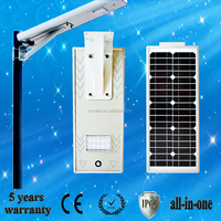 15w 2016 New Design Hot Sale Rechargeable Waterproof Integrated Solar LED Street Light with Competitive Price