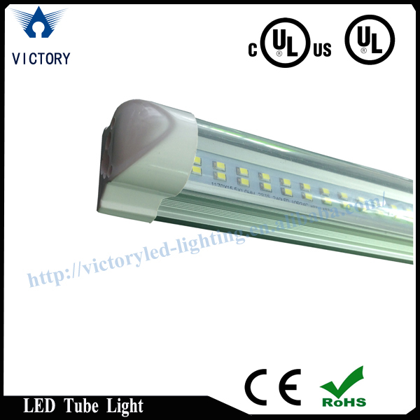 Clear,stripy,frosted cover SMD 2835 leds 120 degree warm white ul 8ft led tube light