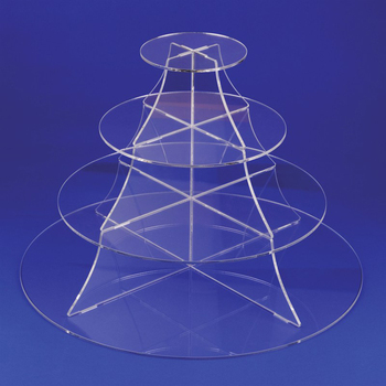 Acrylic 4-layer cake stand with pole/cake stand for sale