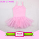 wholesale girls solid white ballet tutu skirted tulle dress girl children leotards gymnastics leotards