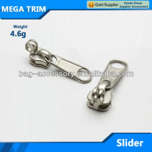Wholesale bag parts non lock metal zipper slider