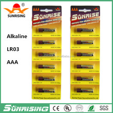 super alkaline battery/batteries LR03 1.5v aaa size