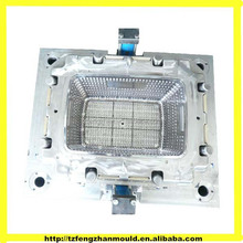 Taizhou Huajiu plastic injecion washing basket mold/mould ,plastic basket mould