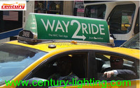 taxi top advertising light box