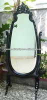 French Carved Cheval Mirror