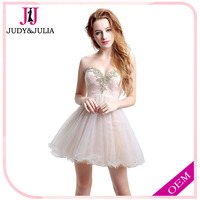 Wholesale Best Selling Beads Tulle Sweetheart Sleeveless Short Ladies Party Dresses Cocktail dress