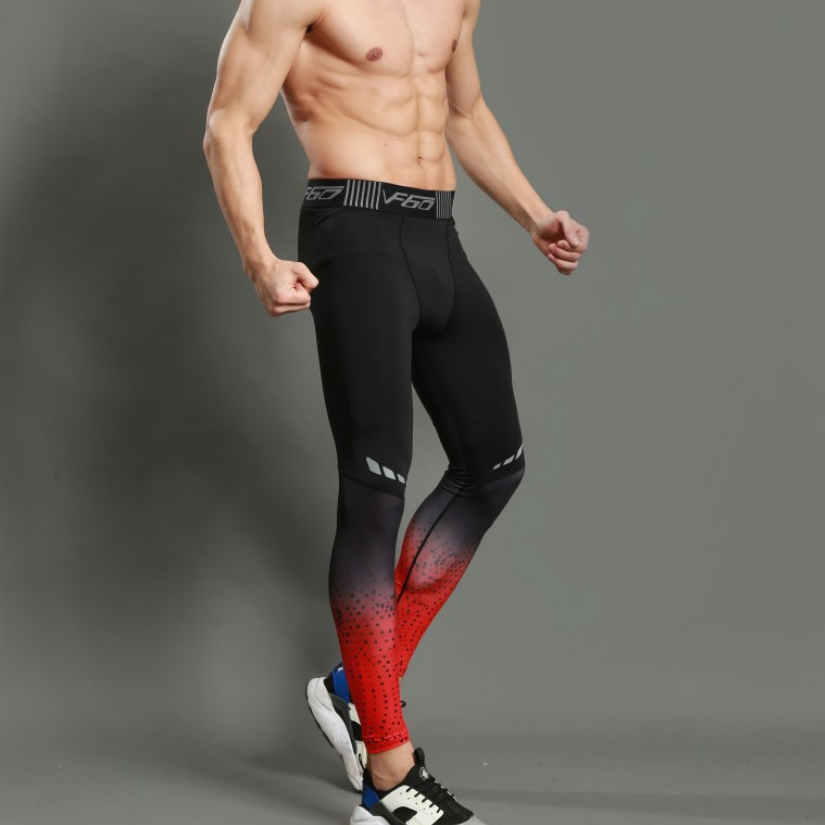 Men's basketball running leggings wholesale compression soccer training pants