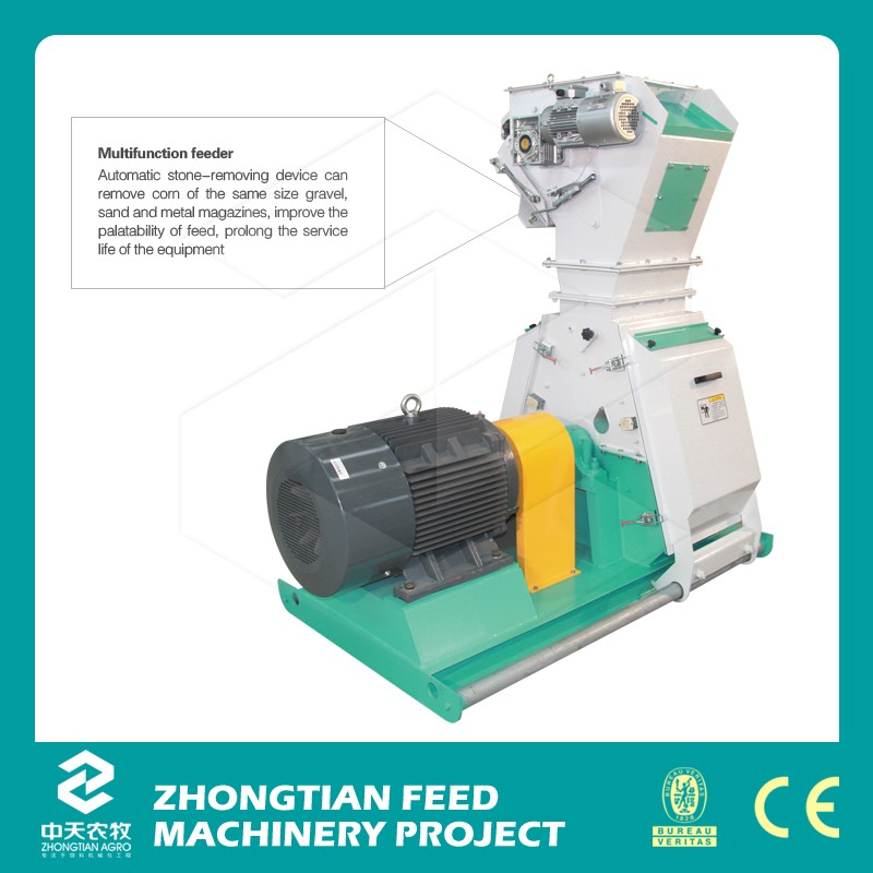 Animal Feed Hammer Mill Small Grinding machine