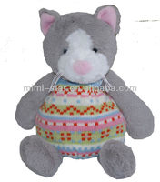 23 cm Microwaveable plush cat toys with Wheat Bag and lavender Pain Relief