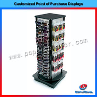 High quality floor standing sunglasses display rack/sunglasses display case