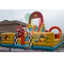 Giant adrenaline rush inflatable obstacle course/obstacle course for adultsen14960