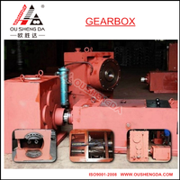 Reducer gear box for conical twin screw extruder