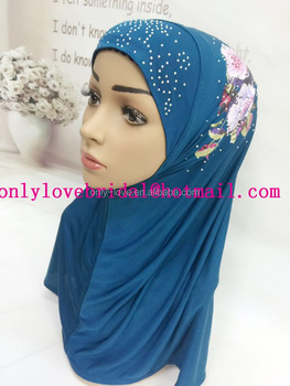 2017 new arrival one peice muslim hijab islamic scarf assorted colors SYF180