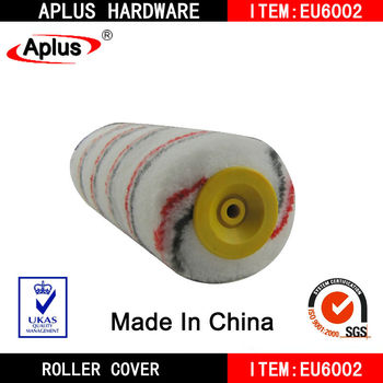 yellow cap paint roller polyester roller sleeves