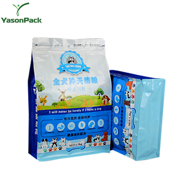 Sample Printed Plastic Stand Up Pet Dog Food Snack Packaging Bag With Resealable Zipper