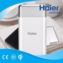 Haier 10000 mAh Wireless Charging USB Charger Power Bank for Smart Phone