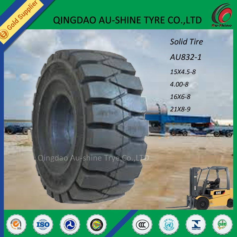 solid rotating forks forklift tire 28x9-15 21x8x15 etc.