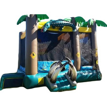 Crocodile Hunter inflatable bouncer jumper/ jumping bouncy castle/ bounce house moon walker moonwalk trampoline slide combo