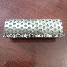 304 Stainless Steel Perforated Metal Screen Filter Cylinder