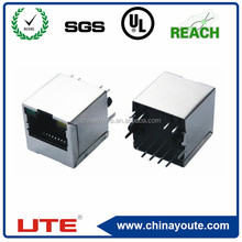 rj45 socket jack connector with transformer, without led,