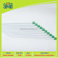2016 new hot sale good quality empty ivory shiny plastic knitting needle low price