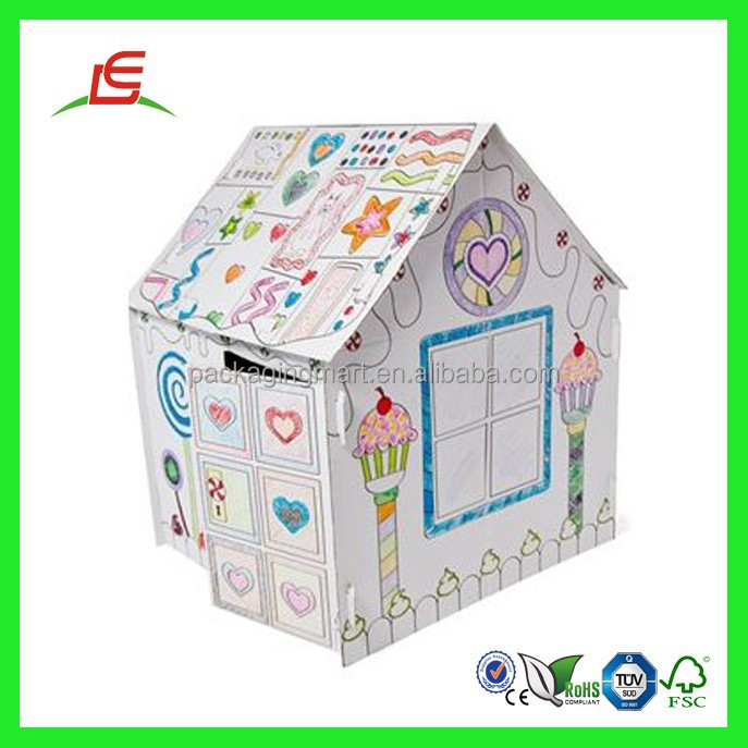 Q815 Shenzhen Wholesale Mini Amazing Cheap Movable Kids Cardboard Houses For Sale
