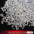 high quality ss3-ss20 mixed size design nail art flatback glass stone