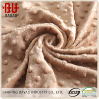 High quality super soft velboa plush toy fabric, soft shell fabric for bedding