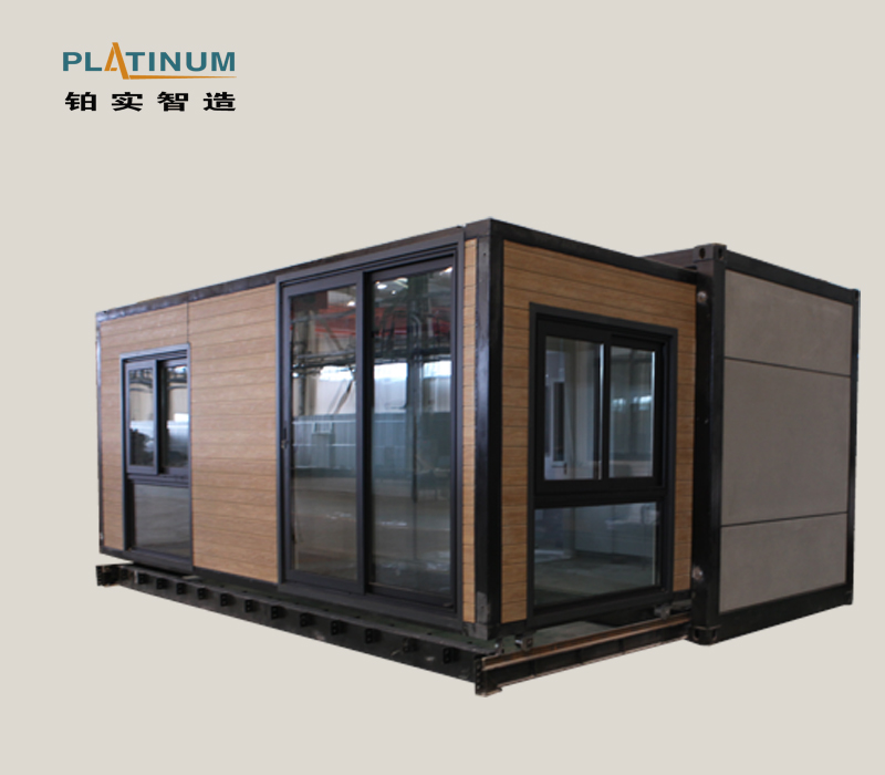 Turnkey luxury prefab 40ft expandable container house