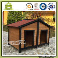SDD12 Large wooden double doors luxury dog houses