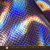 Holographic iridescent synthetic pu scale leather