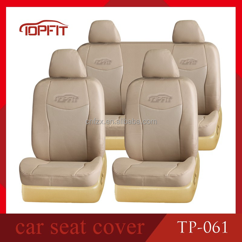 2015 Factory Cheap Price High Quality PVC Car Seat Cover Toyota Hilux Corolla Camry Pickup Well Fit Car Seat Covers Beige