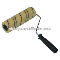 Paint roller brush - Black Strip Yellow