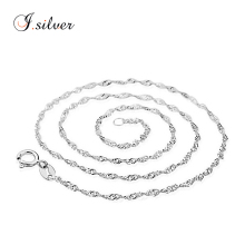2017 cheap 925 sterling pure italian silver jewelry water wave chains for men & women