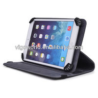 Black Universal Book Style Cover Case with Built-in Stand [Accord Series] for Asus Transformer Book Duet TD300 8.1 Inch Tablet