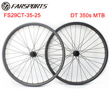 Farsports MTB bicycle wheelset 29er mountain bike wheels 35mm wide tubeless ready hookless MTB rims 28H 32H