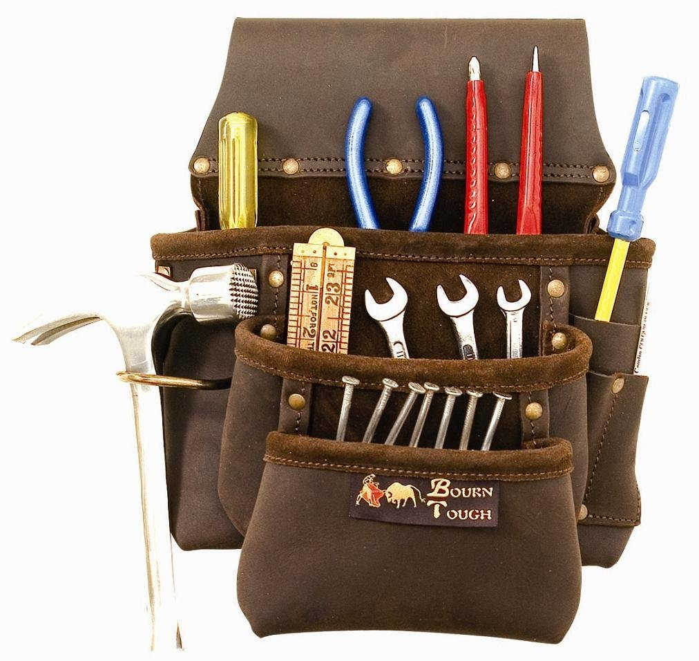 Jumbo Oil Tan Leather Contractors Tool Pouch
