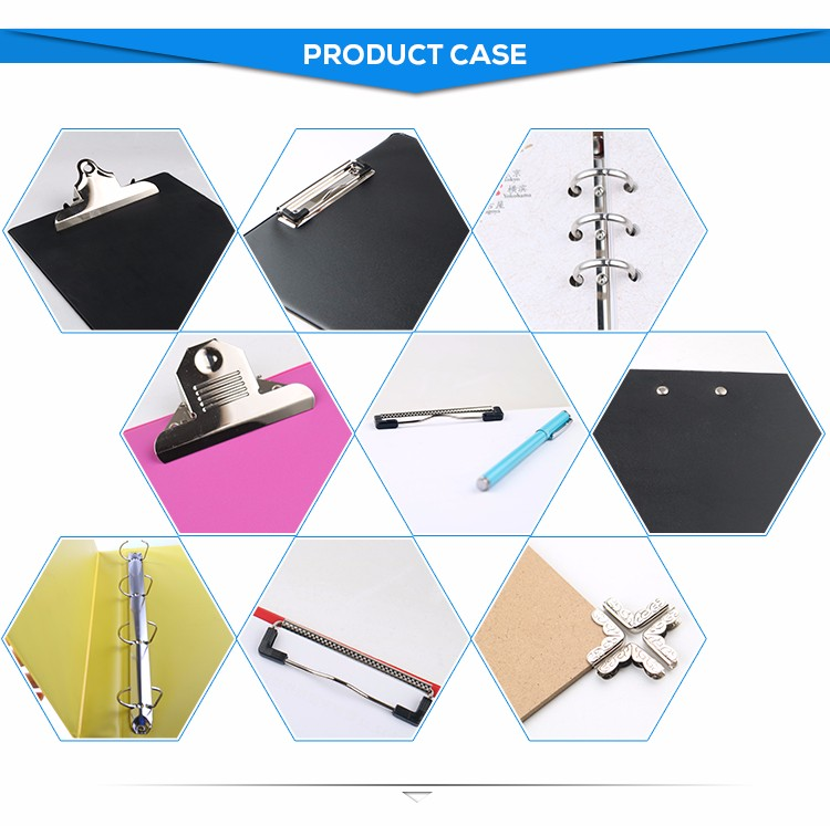 Various types trigger metal 6 ring binder clip mechanism