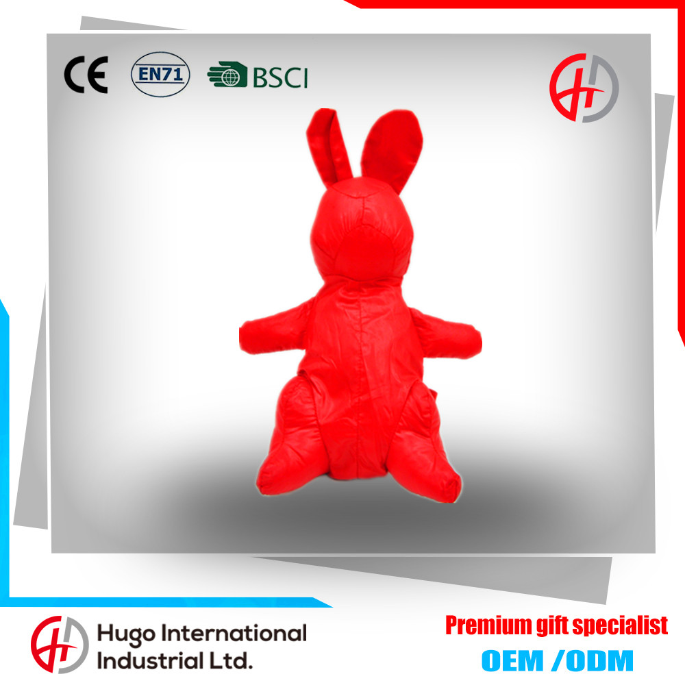 Hot sale eco-friendly cute rabbit shape dual-use reusable polyester collapsible folding shopping bag